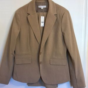 NWT heather tan suit , 16 jacket and 18 pants.